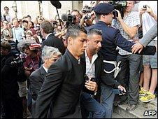 Cristiano Ronaldo arrives in Rome
