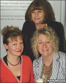 Shortlisted writers Samantha Wynne-Rhydderch, Gee Williams, and Deborah Kay Davies