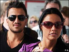 Katie Price with Peter Andre