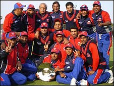 Bahrain with the Division Seven Trophy