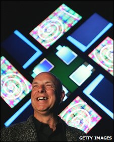 Brian Eno with 77 Million Paintings