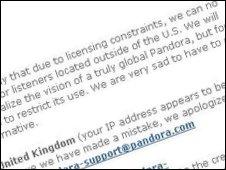 Pandora letter