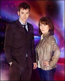 David Tennant and Elisabeth Sladen