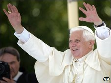 Pope Benedict at Cassino, Italy, 24 May, 2009