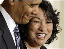 Sonia Sotomayor and Barack Obama, 26/05