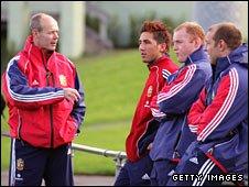 Sir Clive Woodward talks to Gavin Henson, Martyn Williams and Ben Kay