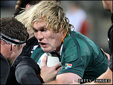 South Africa flanker Schalk Burger