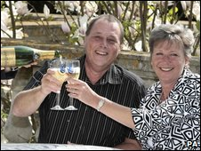 Recent National Lottery winners Martyn and Sandra White