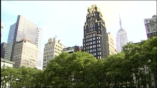 New York skyline from Bryant Park