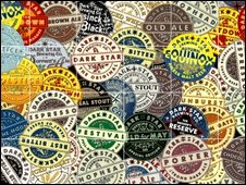 Puzzle of beer mats