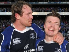 Rocky Elsom and Brian O'Driscoll