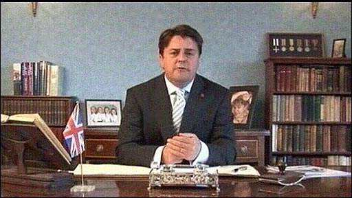 The leader of the British National Party, Nick Griffin