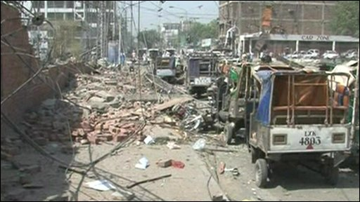 Bomb aftermath in Lahore
