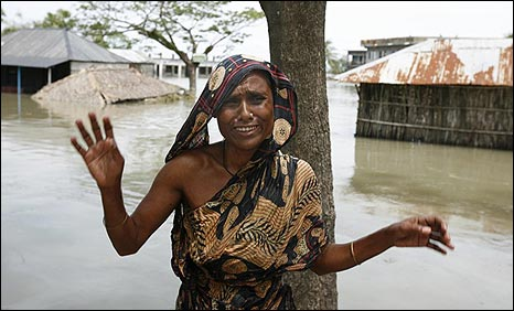 Flood victim in Gabura