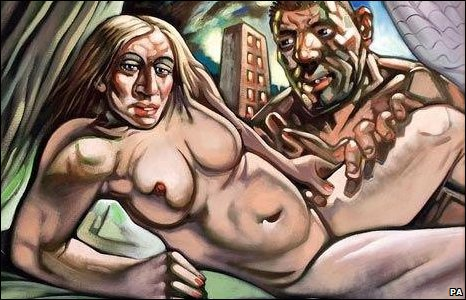 Madonna & Guy (Portrait by Peter Howson)