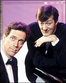 Hugh Laurie (l) and Stephen Fry