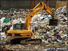 A landfill site