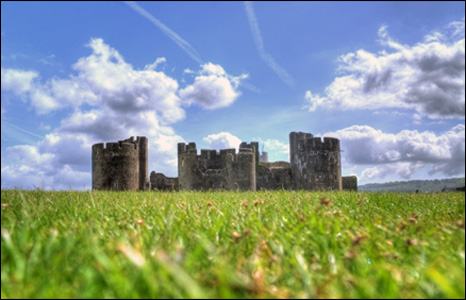 James Francis sent us this lovely shot of Caerphilly Castle.
