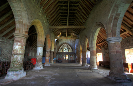 The interior of St Nicholas Church, Grosmont in Monmouthshire (Janice Lane).