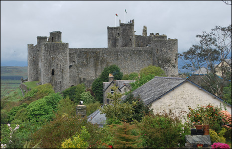 Richard Bridge sent us this unusual view of Harlech Castle in Gwynedd, which also takes in part of a colourful garden.