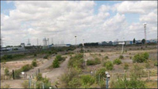 The site for proposed prison