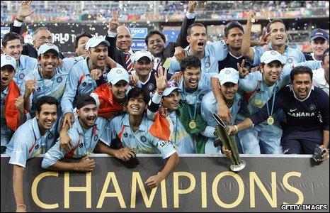 India celebrate in 2007