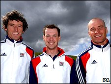 David Florence, Campbell Walsh and Richard Hounslow at the Euros