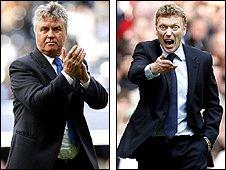 Guus Hiddink and David Moyes
