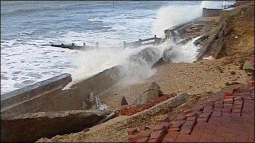 Selsey's damaged coastal defences