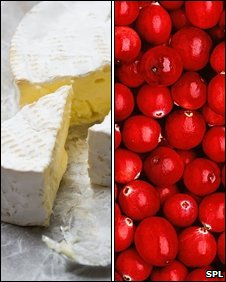 Brie and cranberries