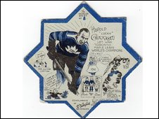 beer mat with hockey player