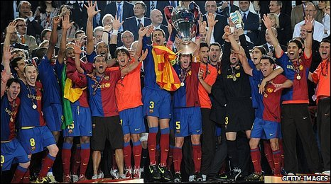 Barcelona celebrate