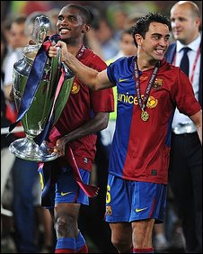 Samuel Eto'o and Xavi