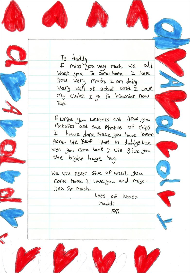 Bbc news uk maddis letter to her hostage father maddis letter thecheapjerseys Image collections