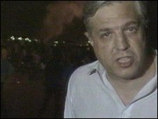 John Simpson reporting from Tiananmen Square