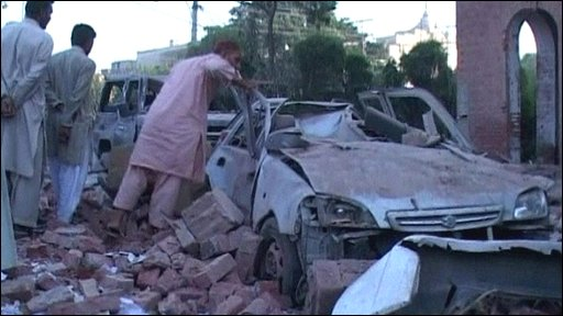 Aftermath of attack in Pakistan