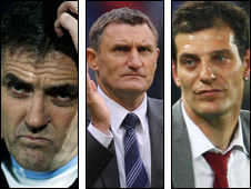 Owen Coyle, Tony Mowbray and Slaven Bilic