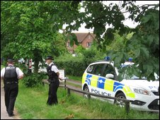 Police at farm