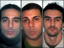 (L-R) Hamza Kamel, Mohamed Mostafa and Mohssin Ghailam