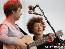 The La's with Lee Mavers (left) and John Power in 2005