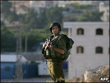 Israeli soldier near Hebron