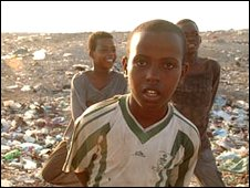 Somali boys at the camp in Bosasso