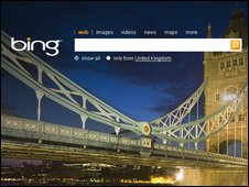 Bing screenshot (Microsoft)
