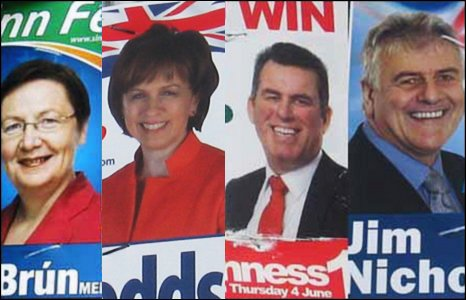 Bairbre de Brun (Sinn Fein), Diane Dodds  (DUP), Alban Maginness (SDLP) and Jim Nicholson (UUP)