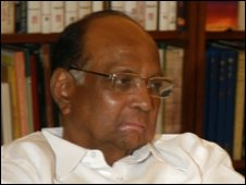 Nationalist Congress Party (NCP) chief Sharad Pawar at a meeting of Congress led alliance parties, in New Delhi, India, , Wednesday, May 20, 2009.