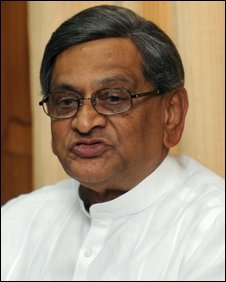 India's newly appointed foreign minister, S. M. Krishna, gives a press conference in New Delhi on May 23, 2009.
