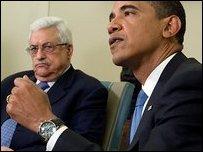باراك أوباما ومحمود عباس -AFP