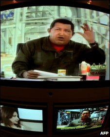 Hugo Chavez on TV