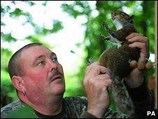 Paul parker and grey squirrel
