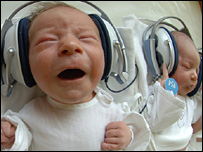 Babies listening to music